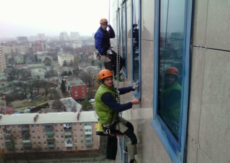 как-организовать-Бізнес мийки вікон альпіністами