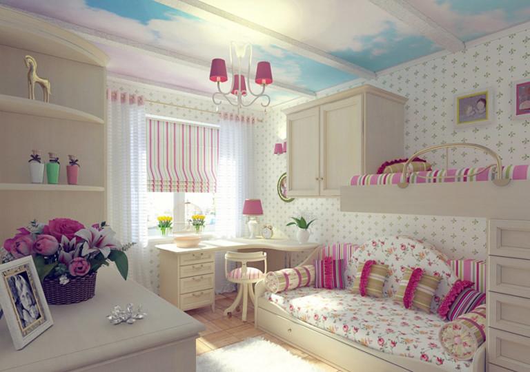 Дизайн интерьера комнаты для девушек