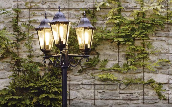 Уличный фонарь-столб